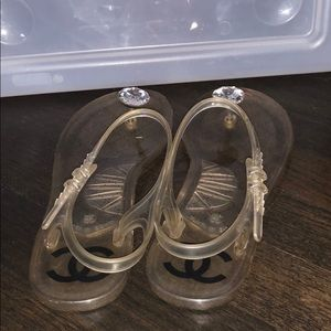 f4d200e3078b CHANEL Shoes - Chanel Jelly Sandals in Clear Plastic Diamond